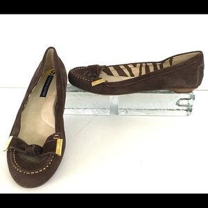Tommy Hilfiger Suede Leather Moccasins Flats 9 M
